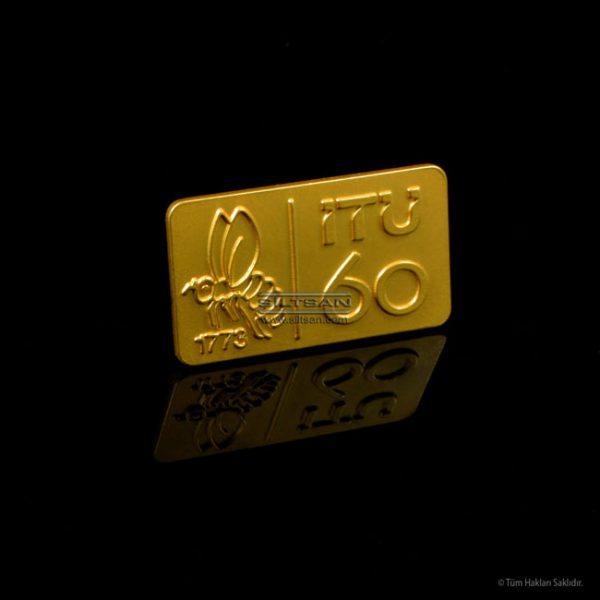 Metal baskı, Mat zeminli, Altın kaplamalı yaka rozeti 6902