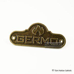 metal döküm etiket germo 6028