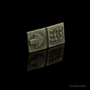 Metal Rozet Metal baskı, antik gümüş kaplamalı rozet 6770