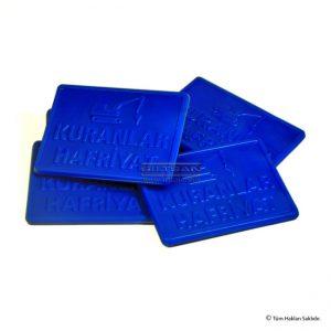 Plastik marka fiş kare form kuranlar 7084