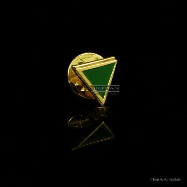 Metal baskı, Altın kaplama, mine uygulamalı rozet 6767