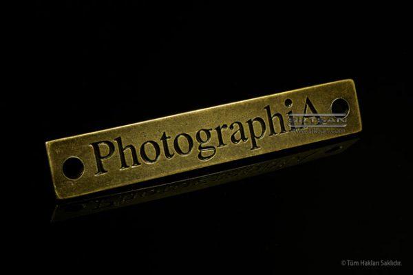 döküm metal etiket photographia 7031