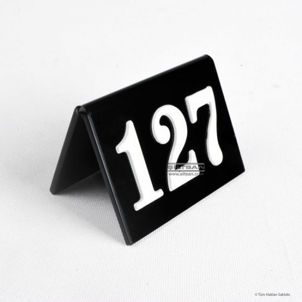 pleksi masa numarasi akrilik kabartma rakamlı numaratör 7698