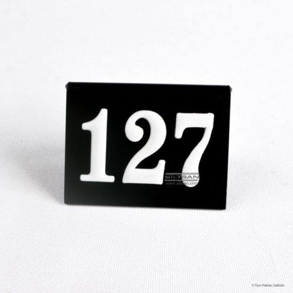 pleksi masa numarasi akrilik kabartma rakamlı numaratör 7700