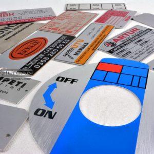 Metal etiket alüminyum mikron baskı