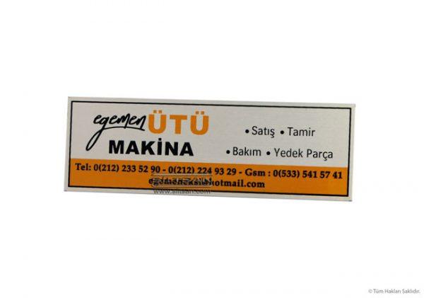 Mikron baskılı alüminyum metal etiket