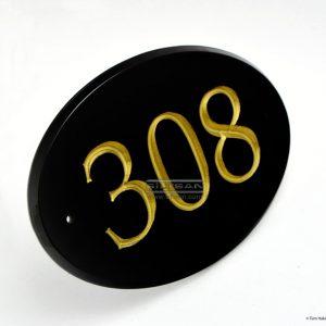 Pleksi oda numarası oyma rakamlı otel kapı numaratörü