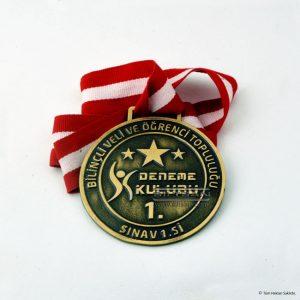Döküm Madalya antik sarı kaplamalı