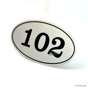 Kapı Numarası ON-04 oval kapı numarası