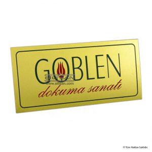 pirinç kapı tabelası renkli logolu